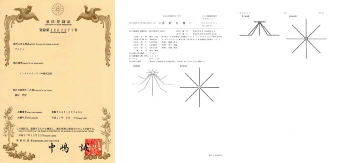 意匠登録証 登録第1262577号  2005年12月22日取得